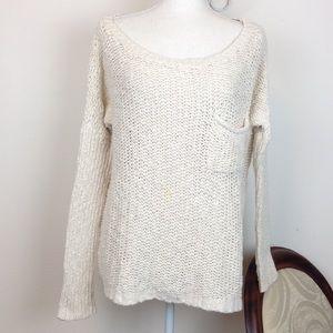 Roxy Size L white cozy sweater